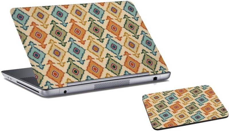 RADANYA Abstract Laptop Skin and Mouse Pad Combo Set RDLSPD02139 Combo Set(Multicolor)