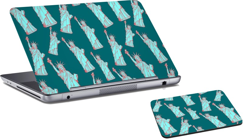 RADANYA Statue Of Liberty Laptop Skin And Mouse Pad Combo Set RD0672 Combo Set(Multicolor)