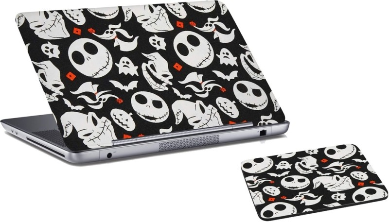 RADANYA Halloween Laptop Skin and Mouse Pad Combo Set RDLSPD0327 Combo Set(Multicolor)