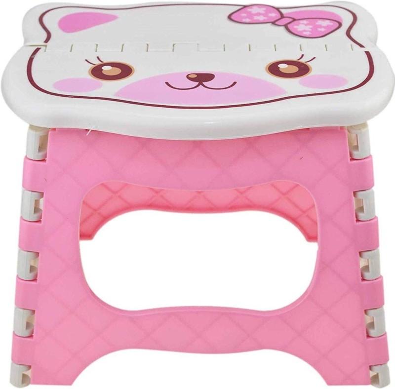 AVMART 8 Inch Super Strong Folding Portable Stool/Chair Stool(Pink)