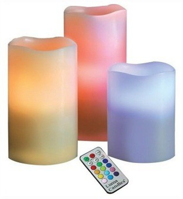 ACM Luma candles Candle(Multicolor, Pack of 3)
