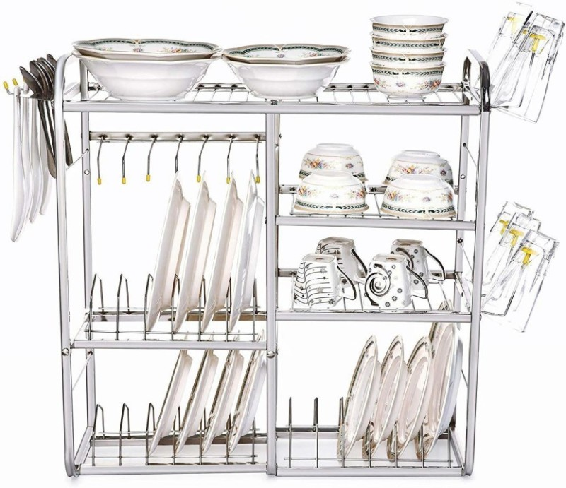 Kitchen Dish Rack Plate Cutlery Stand