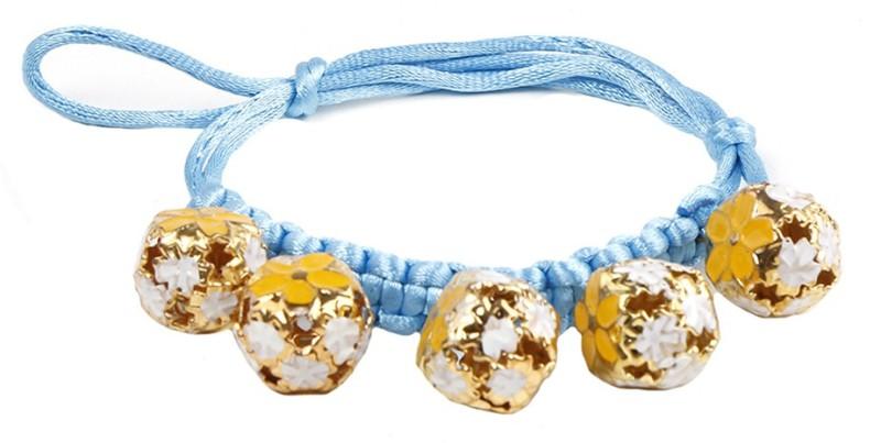 Futurekart Embellished Cat Collar Charm(Blue, Golden, Other)
