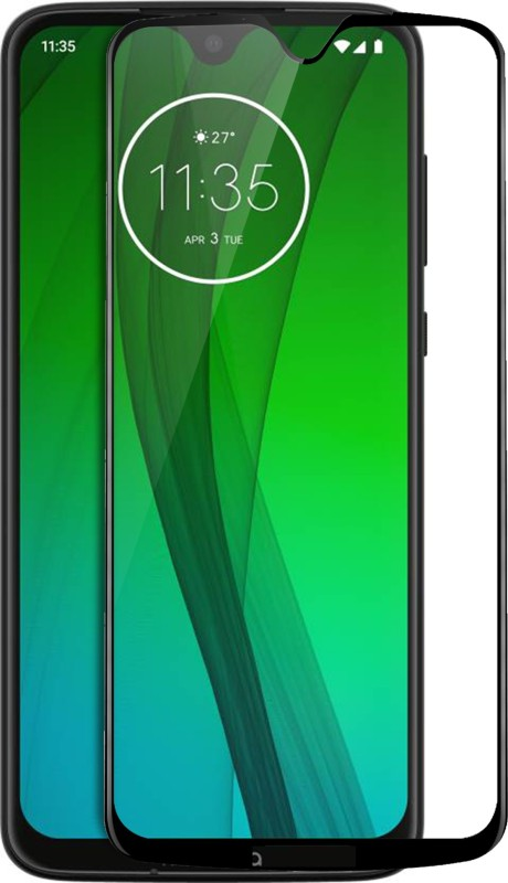 Knotyy Edge To Edge Tempered Glass for Motorola Moto G7(Pack of 1)