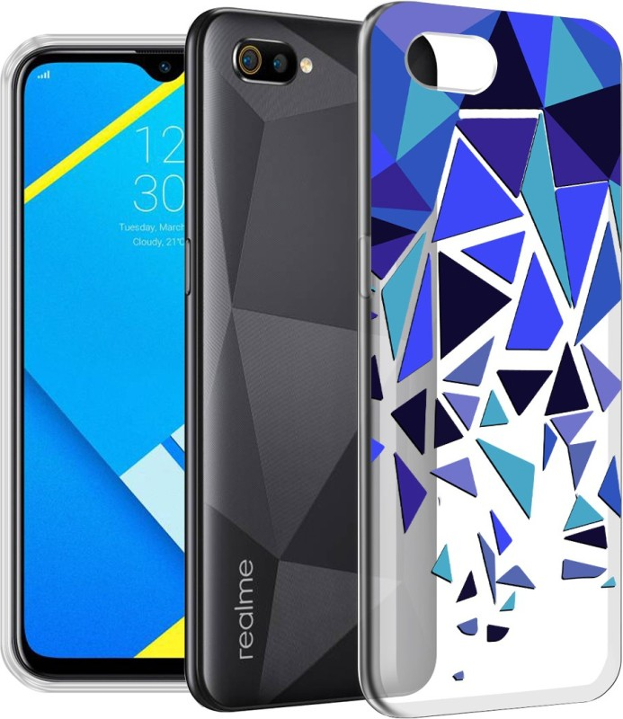 "Flipkart SmartBuy Back Cover for Realme C2(""TRIANGLE PATTERN "", Shock Proof, Silicon)"
