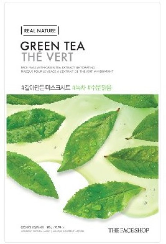 The Face Shop Real Nature Green Tea Mask Sheet Mask(20 g)