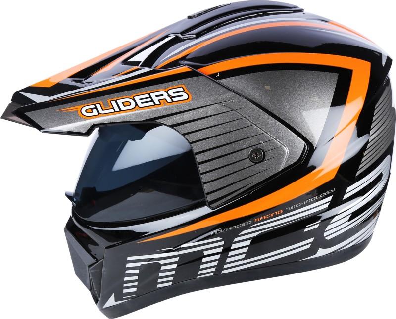 GLIDER MC2 D4 Black with Orange Motorbike Helmet(Black, Orange)
