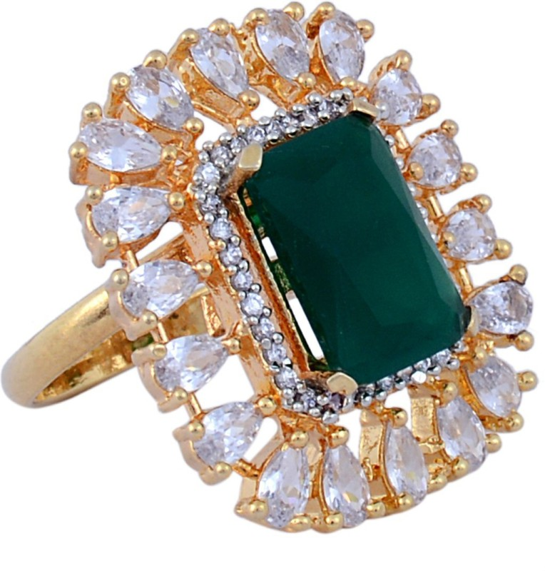 Darsha collections DCR019 Alloy Sapphire Gold Plated Ring