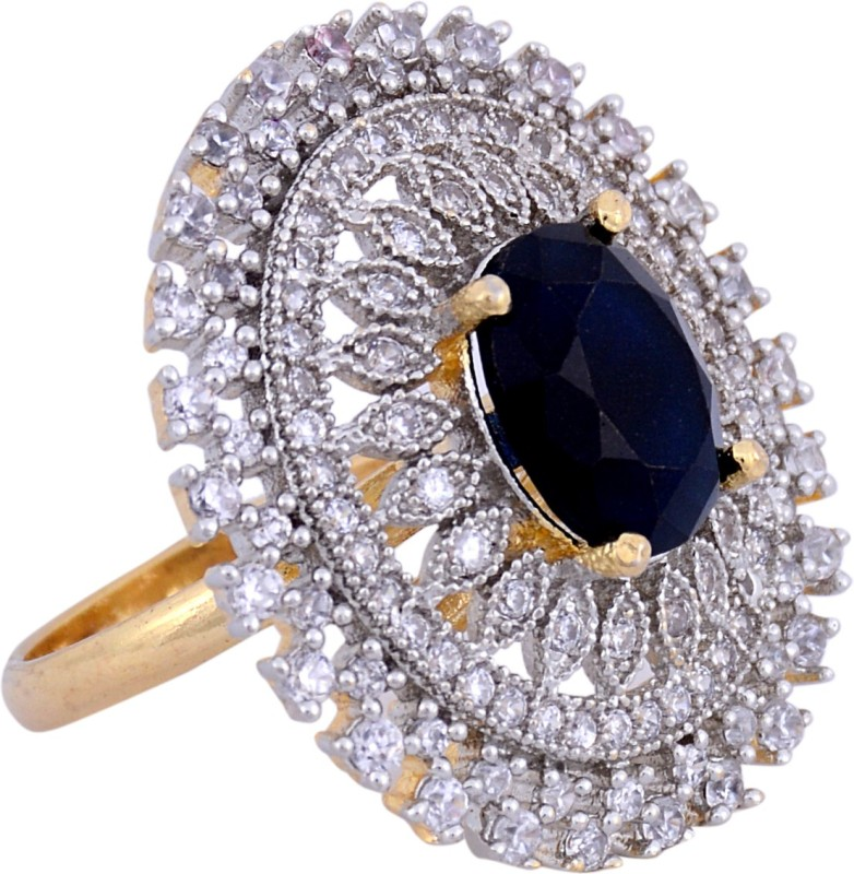Darsha collections DCR022 Alloy Sapphire Gold Plated Ring