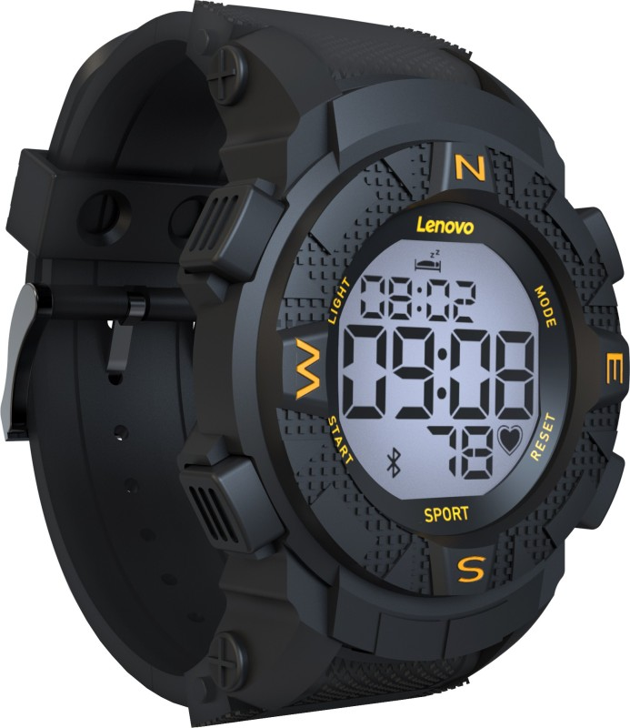 Lenovo Ego Black Smartwatch(Black Strap Regular)
