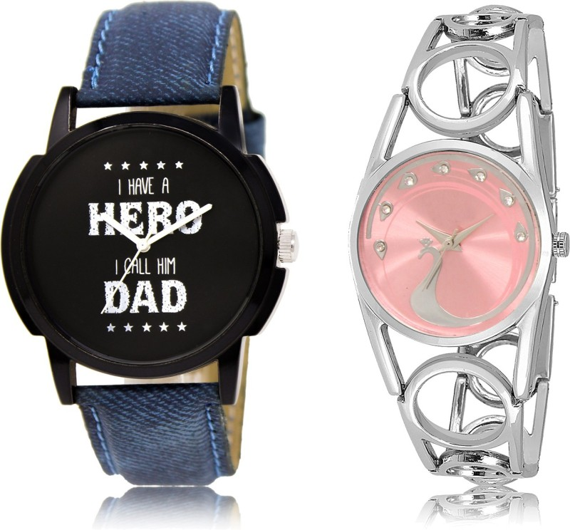 FASHION POOL NEW ARRIVAL FAT SELLING ROUND ANALOG DIAL '' SLIVER & BLACK '' COUPLE COMBO WATCH. METAL & LEATHER BELT NEW ARRIVAL FAST SELLING TRACK DESIGNER WATCH FOR FESTIVAL_PARTY_PROFESSIONAL_VALENTINE_BIRTHDAY GIFT SPECIAL COMBO WATCH FOR MEN_WOMEN Analog Watch - For Couple