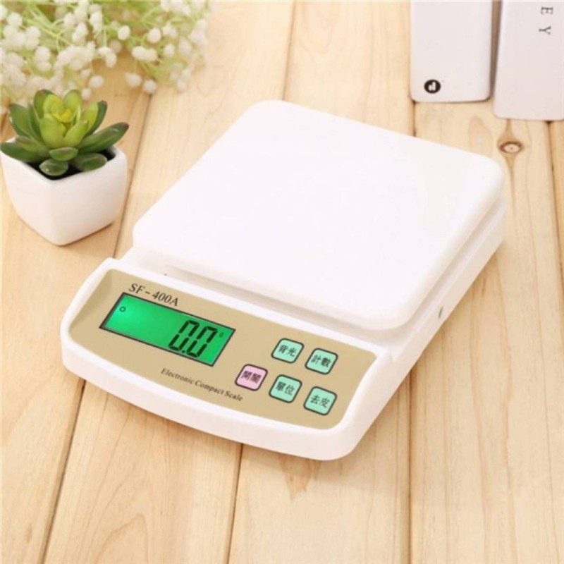 NIBBIN Electronic Digital Kitchen Weight Machine Capacity 10Kg Multipurpose Sf400a Weighing Scale (White) Weighing Scale(White, off white)