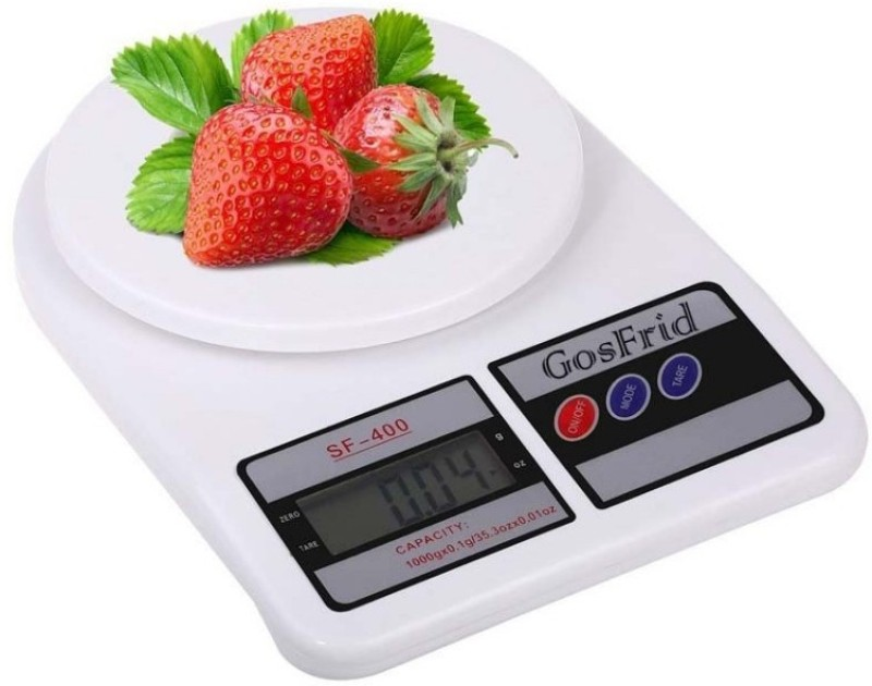 LUDDITE 1gm to 10kg Electronic Kitchen Weighing Scale(White)
