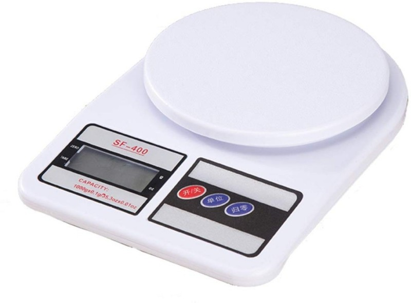 LUDDITE Electronic Kitchen Digital Weighing Scale 10 Kg Weighing Scale(White)
