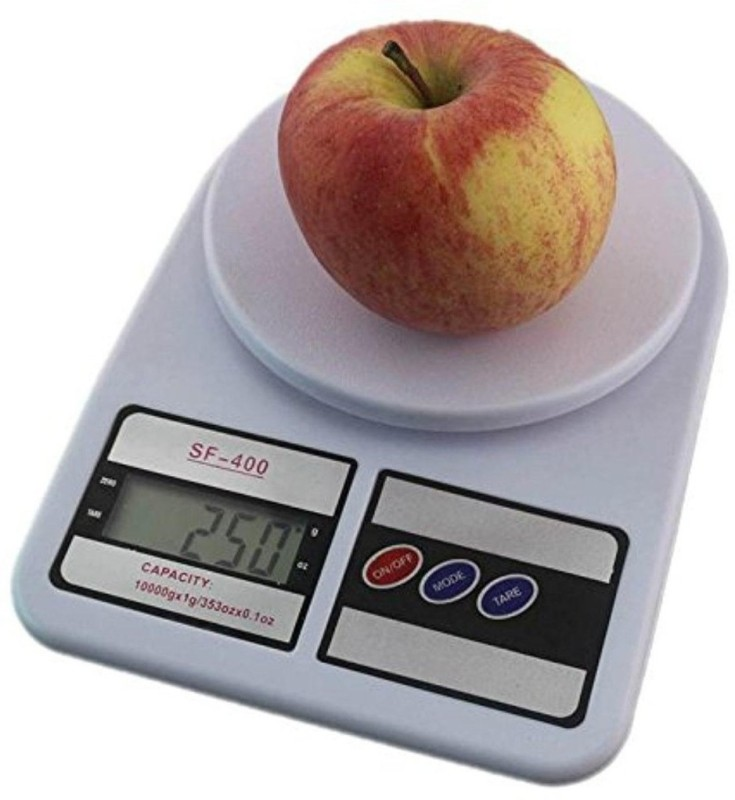 LUDDITE Weight Scale Lcd Kitchen Weighing Scale(White)