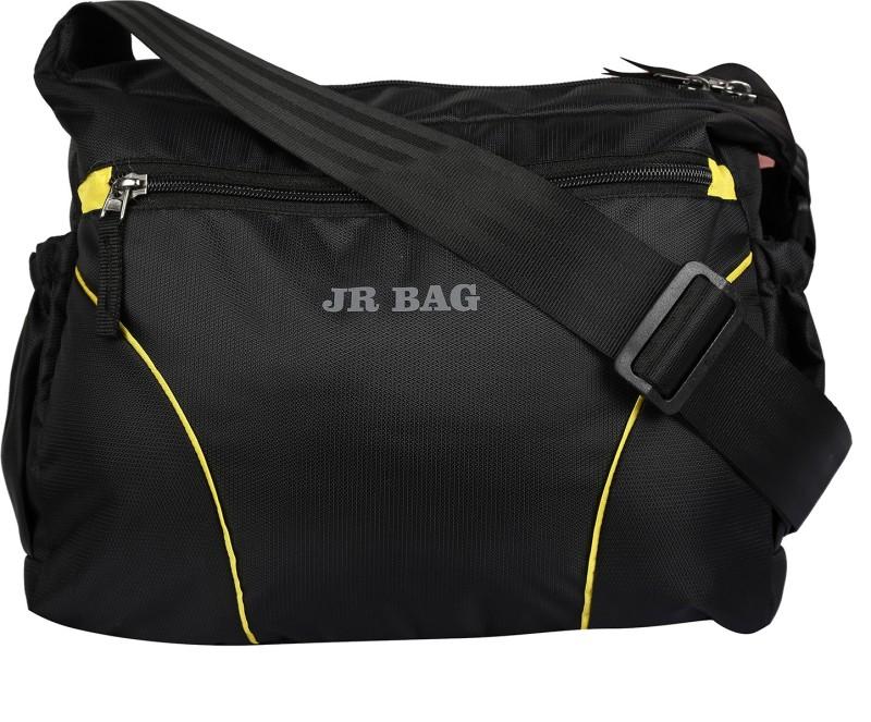JR Bag Men & Women Black Messenger Bag