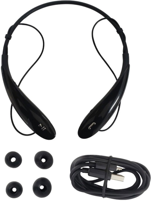 KLUZIE HBS 800 Headphone Premium Sound Sport Gym Fit Neckband Redm_i Bluetooth Headset with Mic(Black, In the Ear)