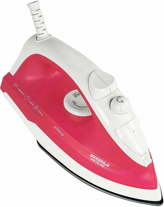 Maharaja Whiteline SI 105 1300-Watts 1300 W Steam Iron(White, Pink)