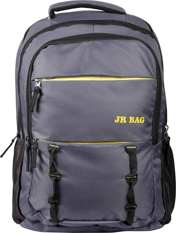 JR Bag 15 inch Inch Expandable Laptop Backpack(Grey)