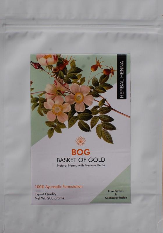 BOG Pure & Natural Herbal Henna with Precious Herbs powder Natural Mehendi(Pack of 1)