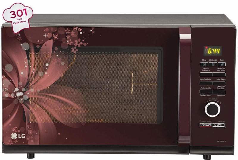 LG 20 L Convection Microwave Oven(c22, black)
