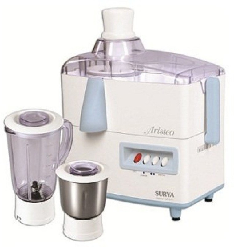 SURYA ROSHNI LIMITED 1 EFJEJJNF 450 Juicer Mixer Grinder(White, Blue, 2 Jars)