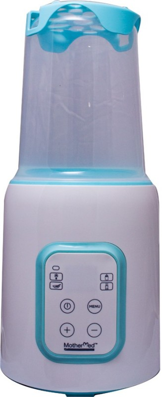 MOTHER MED MOTHER MED MILK WARMER - 1 Slots(WHITE WITH BLUE)