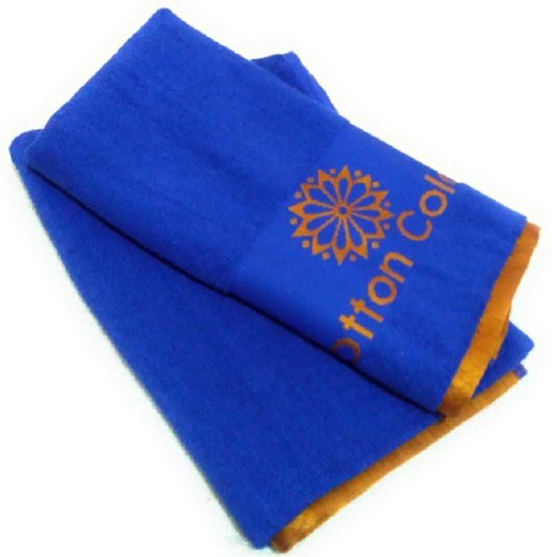 Cotton Colors Cotton Terry 450 GSM Bath Towel(Pack of 2, Dark Blue)