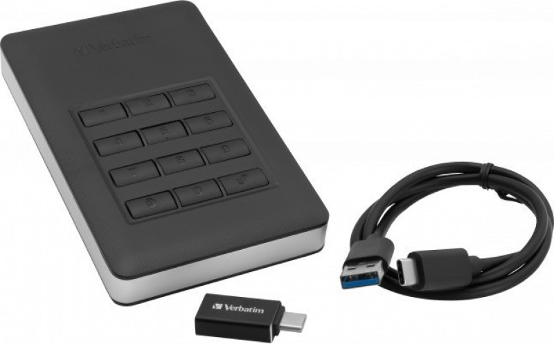 Verbatim 2 TB External Hard Disk Drive(Black)