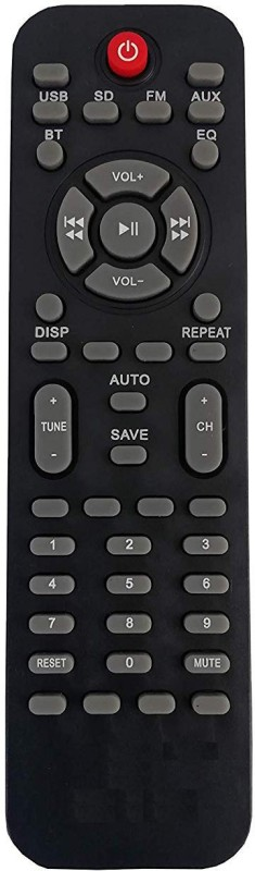 LipiWorld Letest Home Theater System Remote Control Compatible for ZEBRONICS USB SD AUX Remote Controller(Black)