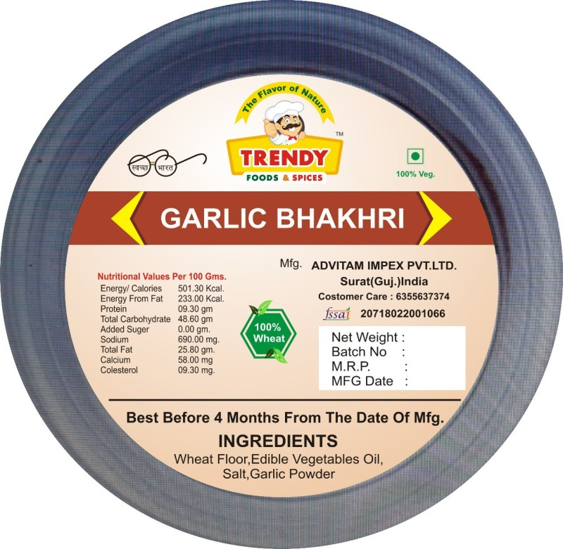 TRENDY FOODS & SPICES Bhakhri 200 g