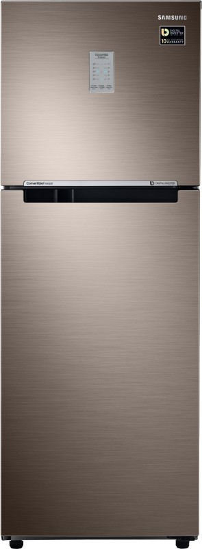Samsung 253 L Frost Free Double Door 2 Star (2019) Convertible Refrigerator(LUXE BROWN, RT28R3722DX/NL)