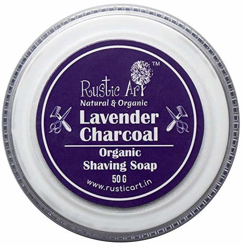 Rustic Art Lavender Charcoal Organic Shaving Soap 50 g Shaving Soap(1 g)