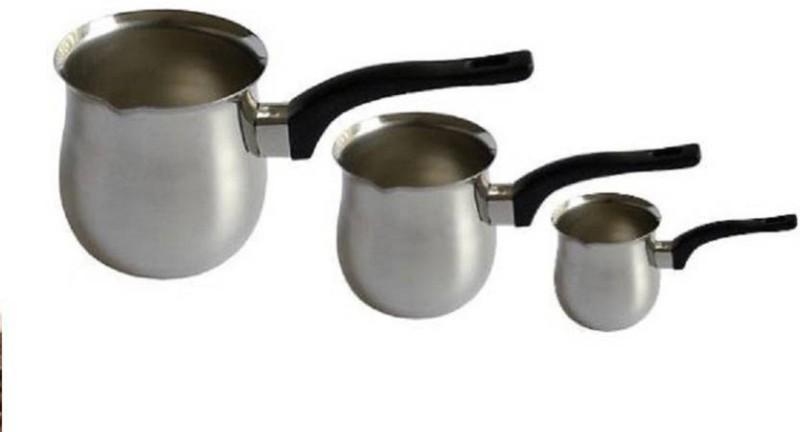 upalabdh 3 PCs Stainless Steel Coffee Warmer Set Tea & Coffee Maker 3 Coffee Maker(Silver)