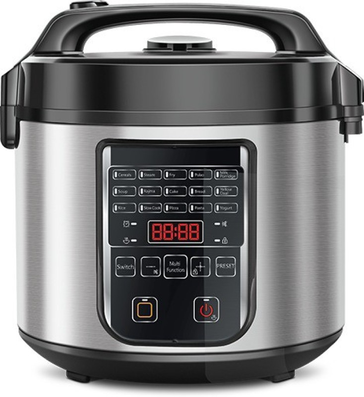 Kent Hot Pot Multi-Functional Slow Cooker, Food Steamer, Rice Cooker(5 L, Black, Steel)