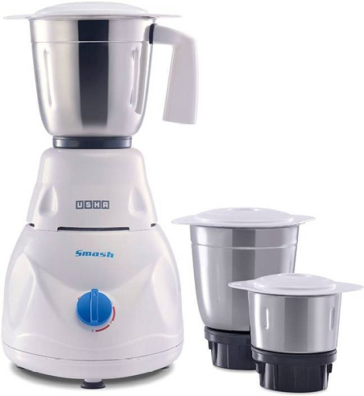 Usha MG-3771 750 Juicer Mixer Grinder(White, 3 Jars)