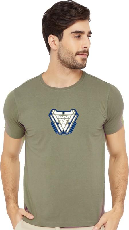 Bluehaaat Printed Men Round Neck Maroon T-Shirt