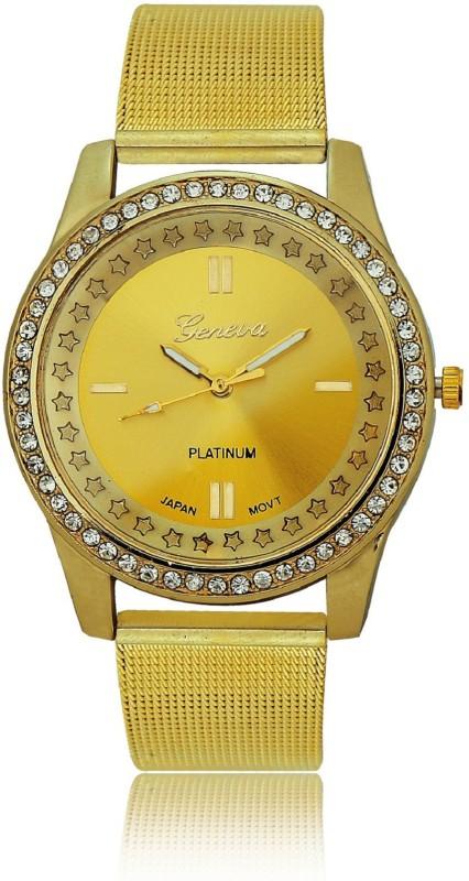 Geneva Platinum Stylish Star Dial Analog Watch - For Women