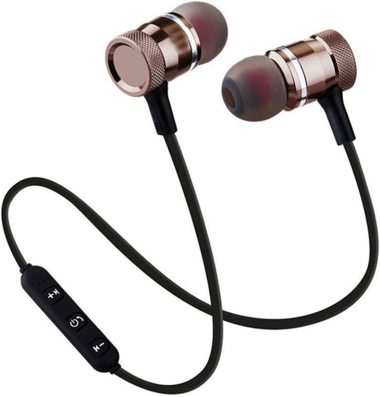 Bumhe Magnetic Bluetooth Headset with Mic(Black, In the Ear)