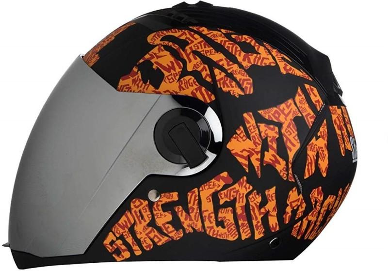 Studio Black A11 Motorbike Helmet(Black, Orange)
