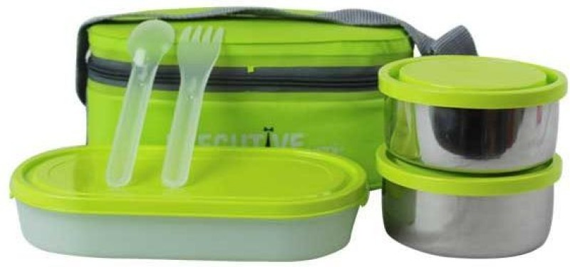 Milton INTELLIGENT HOMEWARE EXECUTIVE LUNCH INSULATED TIFFIN 3 Containers Lunch Box(500 ml)