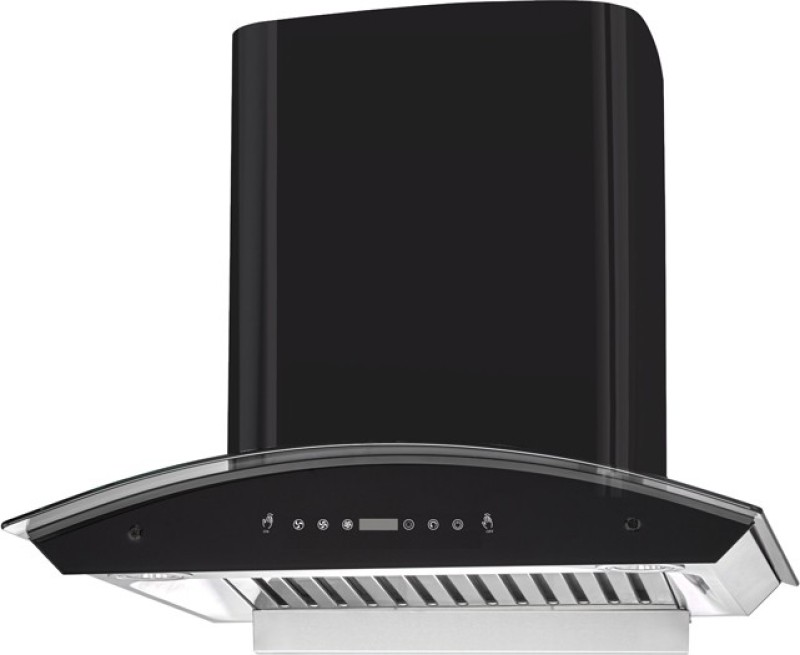 Kaff Prima DHC 60 Auto Clean Wall Mounted Chimney(Black 1180 CMH)