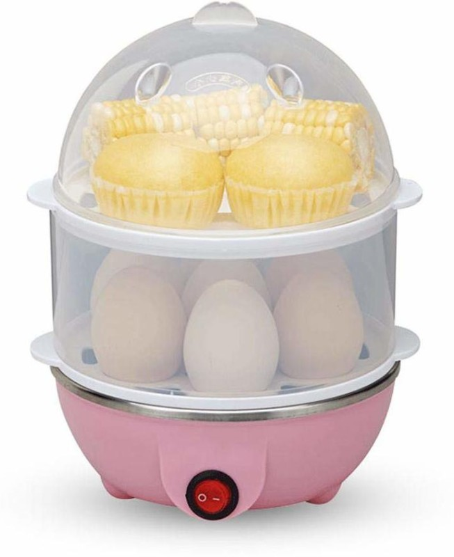 LALA LIFE Multi-functional Egg Boiler Egg Poacher 14 Egg Electric Egg Cooker Egg Cooker(Pink, 14 Eggs)