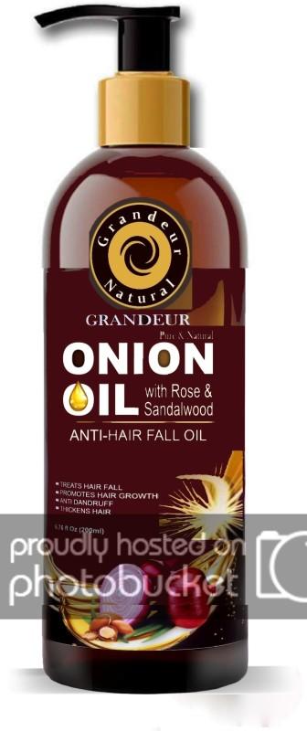 Grandeur Onion Hair Oil For Hair Fall Treatment 200ml And Hair Growth With Red Onion Extract, Argan Oil, Bhringraj, Hibiscus Oil, Jojoba Oil, Vitamin E Hair Oil(200 ml)