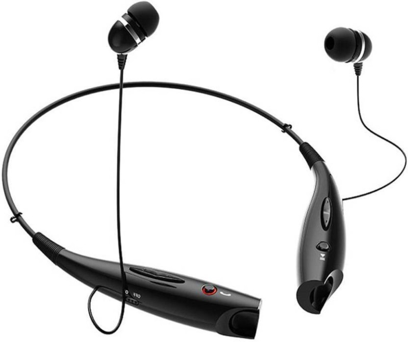 footloose HBS-730 Headphone Super Rich Bass Sound Sport Neckband Red_mi Bluetooth Headset with Mic(Black, In the Ear)