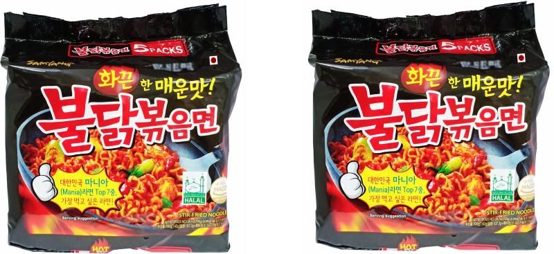Samyang Stir Fried masala noodles _10 Instant Noodles Non-vegetarian(10 x 100 g)