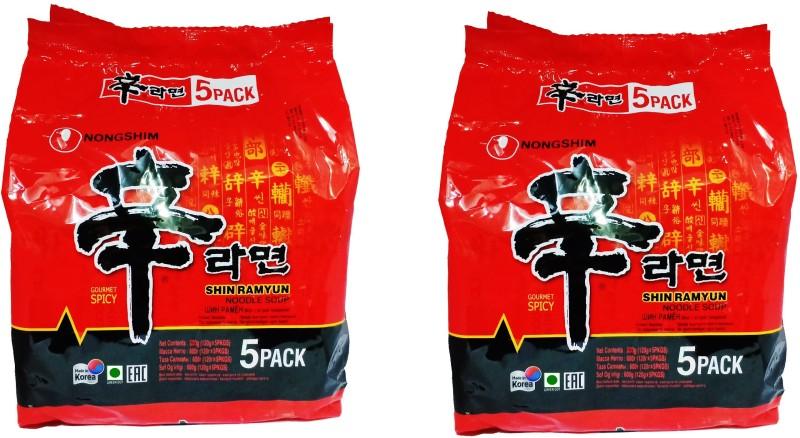 Nongshim Shin ramyun masala noodles _10 Instant Noodles Vegetarian(10 x 100 g)