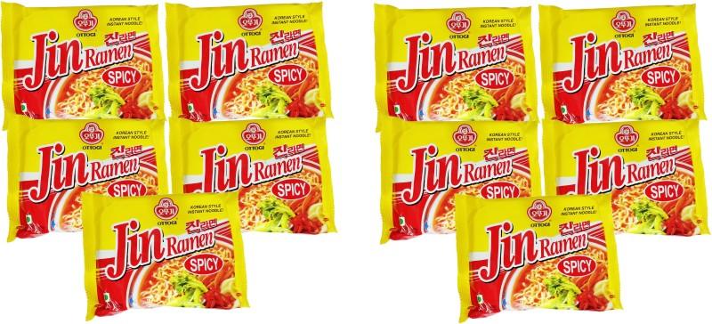 Ottogi Jin Spicy masala noodles _10 Instant Noodles Vegetarian(10 x 12 g)