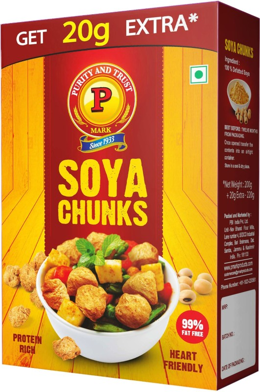 P Mark Soya Chunks(220 g)
