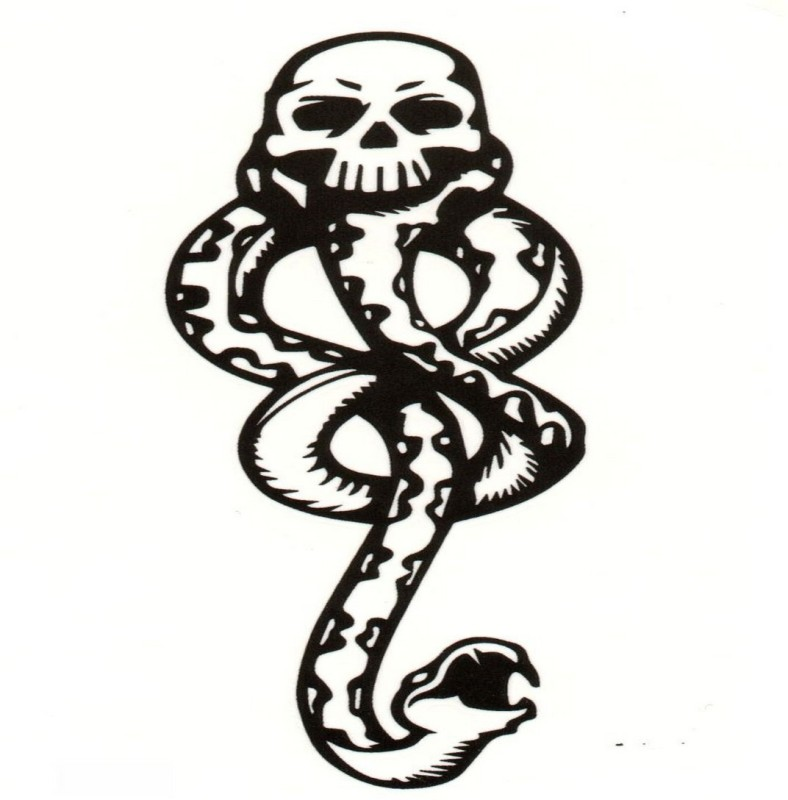 TattooStore.IN 7447509871848(Sexy Snake Face Design Body Art Temporary Waterproof Tattoo Stickers)